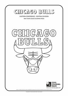 Cool Coloring Pages - NBA Teams Logos / Chicago Bulls logo / Coloring page with…