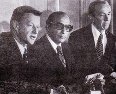 Zbigniew Brzezinski, Agha Shahi and Warren Christopher
