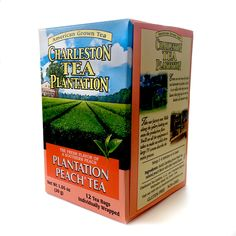 Plantation Peach American Classic Tea bags from Charleston's Tea Plantation. Locally grown black tea with natural peach flavor. Tea is grown, processed and packed on Wadmalaw Island, a short distance