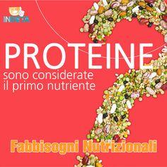 Le proteine svolgono funzioni importantissime infatti sono considerate il primo nutriente. Lo sapevi? #capirelanutrizione