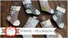Stiefel - Pillowbox mit Produkten von Stampin´Up! - Step by Step Anleitung - YouTube