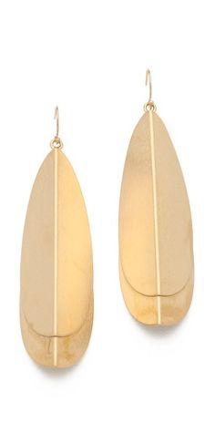 We picked these because they stand out but they're so simple. Dean Davidson Layered Drop Earrings $139