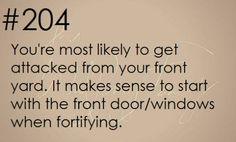 Zombie Apocalypse Survival Tip #204