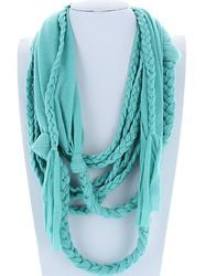 Mint Braided Infinity Scarf Color Combinations, Infinity, Scarves, Braids, Mint, Boutique, Pattern, Fashion, Color Combos