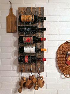 Wine Rack, Cabinet, Retro, Storage, Furniture, Home Decor, Jelly Cupboard, Purse Storage, Bottle Rack