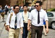 the thick dotty guy! Tommy Ton's Street Style: Pitti Uomo: Style: GQ
