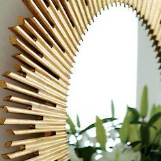 Bernhardt. Salon Oval Mirror in antiqued gold leaf