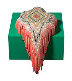 Sculptures made with coloured Staedtler pencils by Lionel Bawden