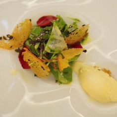 Salad served with ice cream?? Yes please! #CZFoodBev #Food #Travel #FoodTravel
