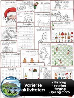 Årets julepakke med haugevis av aktiviteter og oppgaver. Egnet for 2.-5.klasse, men også yngre og eldre elever.