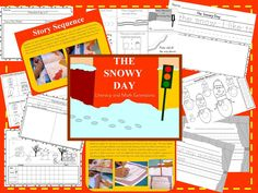 The Snowy Day by Ezra Jack Keats great classic for those cold snowy days.  This product includes sequencing cards, Peter's Window art project, appropriate attire for the weather, math and reader response printables. $2.50