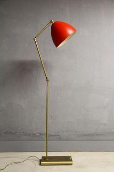 50er Mid Century Italian Modern Gelenkarmlampe Stehlampe Lamp Stilnovo Arteluce