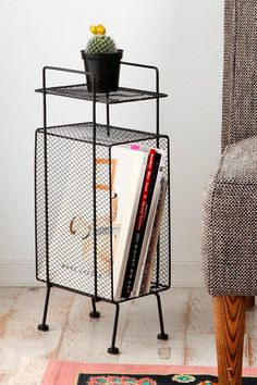 Mini Storage Rack from Urban Outfitters. Saved to My Home My Style. Shop more products from Urban Outfitters on Wanelo. Table Storage, Storage Rack, Vinyl Storage, Bath Storage, Small Storage, My New Room, My Room, Home Interior, Decoration