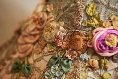Nightshades - Antique Silk Ribbonwork Ribbon Work Victorian Lampshade