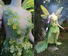 Hannah Alexander Art Nouveau Tinkerbell by Firefly-Path on DeviantArt Cosplay Costumes, Halloween Costumes, Fairy Costumes, Faerie Costume, Renaissance Fairy Costume, Blue Fairy Costume, Woodland Fairy Costume, Costume Venitien, Fantasy Gowns