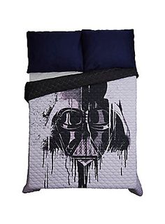 If you've been finding your lack of sleep disturbing, then change your bedding and get the sleep deserving of a Sith Lord. This black and grey quilt features a watercolor Darth Vader design and will have you sleeping harder than Luke on Hoth.