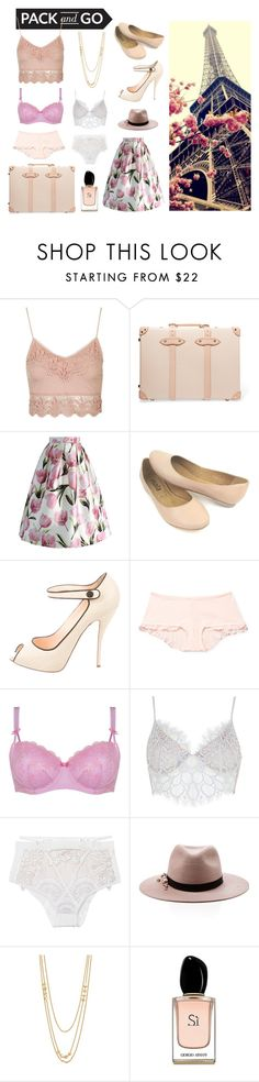 """Paris"" by blancheflor on Polyvore featuring moda, Topshop, Globe-Trotter, Chicwish, Christian Louboutin, Underella by Ella Moss, Déesse, For Love & Lemons, Eugenia Kim e Gorjana"