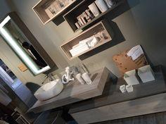 e.GO Nodo, the warm class of bathroom furniture. AK by Arcom. Seen at ISH 2015