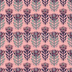 Farbenfrohe Blumen Rapport by Maria ion at patterndesigns.com Vektor Muster, Vector Pattern, Surface Design, Fantasy, Quilts, Patterns, Flowers, Vectors, Random Stuff