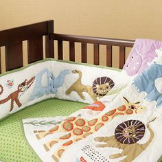 CRATE AND BARREL! The Land of Nod | Crib Bedding: Safari Lion Crib Bedding in Crib Bedding