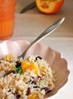 giroVegando in cucina: Insalata di riso con arance, olive e menta