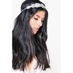 Boohoo Nina Sequin & Diamante Bridal Head Band ($12) ❤ liked on Polyvore featuring accessories, hair accessories, floral crowns, flower crown, bride flower crown, headband hair accessories and bride hair accessories