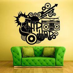 New York Concrete Jungle Lyrics Music Bedroom Decal Wall Art Sticker Picture
