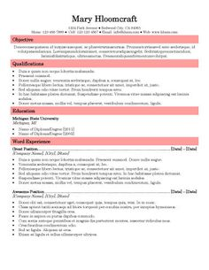 upfront free resume template by hloom com resume templates
