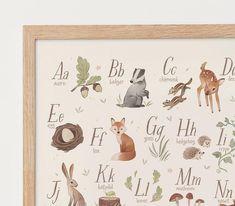 Woodland Nursery Prints, Woodland Animal Nursery, Woodland Art, Alphabet Poster, Alphabet Print, Dinosaur Alphabet, Abc Poster, Alphabet Wall, Animal Alphabet