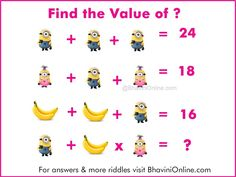 Fun WIth Maths: Find the Missing Number in The Picture – Minions Version | BhaviniOnline.com