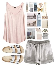 """""""TREASURES"""" by bellasmithx ❤ liked on Polyvore featuring H&M, Birkenstock, Falke, Le Labo, Vietri, BIA Cordon Bleu, Korres, philosophy and Crate and Barrel"""