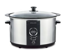Andrew James 3.5L Sizzle To Simmer 2-in-1 Digital Slow Cooker In Brushed Stainless Steel With Removable Aluminium Frying Pot - 2 Year Warranty - Fry, Sear, Sauté and Stew: Amazon.co.uk: Kitchen & Home