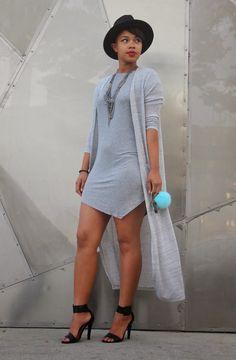 ecstasymodels: Gray on Gray Dress: SheTheCollection - My Style - Dress Black Women Fashion, Look Fashion, Urban Fashion, Womens Fashion, Chic Outfits, Fashion Outfits, Fashion Games, Moda Chic, Recycled Fashion