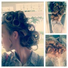 Sunday night hair! #Pincurls #apostolichair