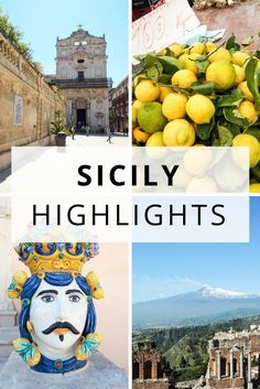 Italy Travel Inspiration - Sicily Italy - travel guide and highlights - Valle dei Templi, Baroque towns of the Val di Noto, Taormina, Ortigia and the coastline Sicily Travel, Italy Travel Tips, Travel Destinations, Rome Travel, Travel Europe, Cinque Terre, Travel Advice, Travel Guide, Travel Hacks
