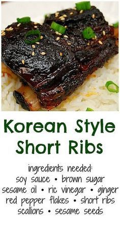 Korean Style Short Ribs (Crockpot) I love cooking dishes of various ethnic cuisines. Doing so adds some fun in our usual meals and it's a great way to appreciate other cultu. Pork Short Ribs, Short Ribs Slow Cooker, Pork Ribs, Asian Short Ribs, Flanken Short Ribs Recipe Slow Cooker, Smoked Beef Short Ribs, Beef Back Ribs, Asian Pork, Bbq Pork