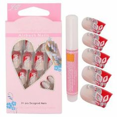 24pcs Hand-painted Artificial False Full Nails Nail Art Tips W/ Nail Glue #C02 by Crazy Cart. $6.67. Features: 1. New, made of high quality plastic 2. Beautiful appearance, special surface treatment 3. Can add nail art decorations on the nails and design your own style and pattern. 4. Suitable of Most of People of Different Finger Size 5. Suitable for nail extension with nail art decorations / nail gel / acrylic / etc  6. Easy to apply and hold with nail glue 7. Come w...