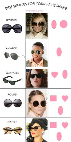 sunglasses for your face shape Thirsty Thursday :: Shades for Summer Sunglasses For Your Face Shape, Thirsty Thursday, Oval Faces, Oval Face Shapes, Tips Belleza, Mode Outfits, Pink Outfits, Fashion Outfits, Mode Style