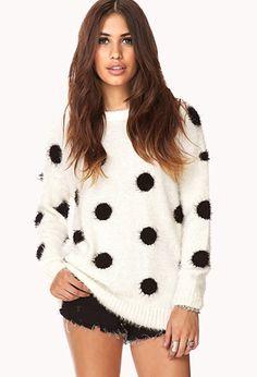 Cozy Polka Dot Shag Sweater- Forever 21- $27.80