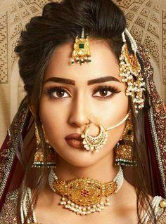 Beautiful bridal nath or nose ring