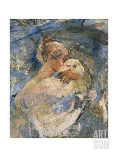 Girl with a Lamb Giclee Print by Annie Louisa Swynnerton at Art.com