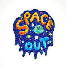 Space Out Cosmic NASA Galaxy Iron On Embroidered Patch - A Patch E Store