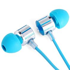 XKDUN CK-840 Super Bass In-ear Earphone 3.5mm Jack Stereo Headphone 1.2m Flat Cable with Microphone for iPhone 6 / 6 Plus 5 5S 4 4S Samsung Smartphones MP3 Computers  $12.63