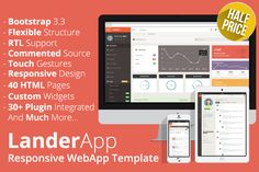 Check out LanderApp - Responsive WebApp by Optimistic Designs on Creative Market