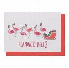 Image result for flamingo christmas card