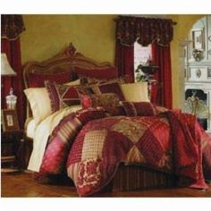 Gold & Burgandy bedroom