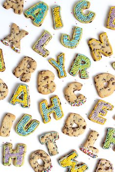 Chocolate Chip Roll-Out Letter Cookies | Oh Happy Day!