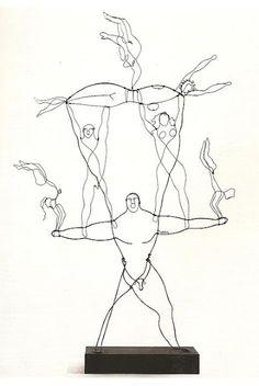 Alexander Calder / wire sculpture