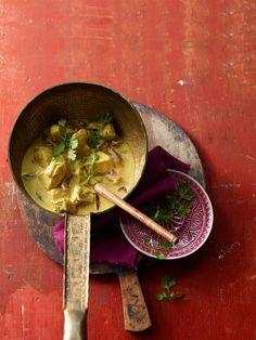 Hähnchencurry indisch in Kokosnussmilch