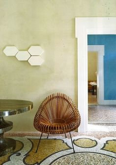 color for me is so hard. I love fresh, but I love calm. This green is perfect. www.india-mahdavi.com